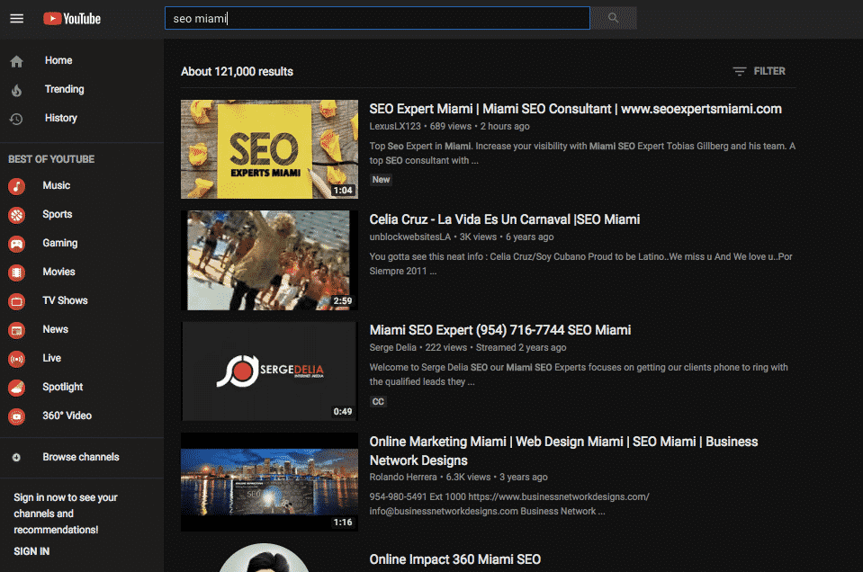 First YouTube SEO Video up 2