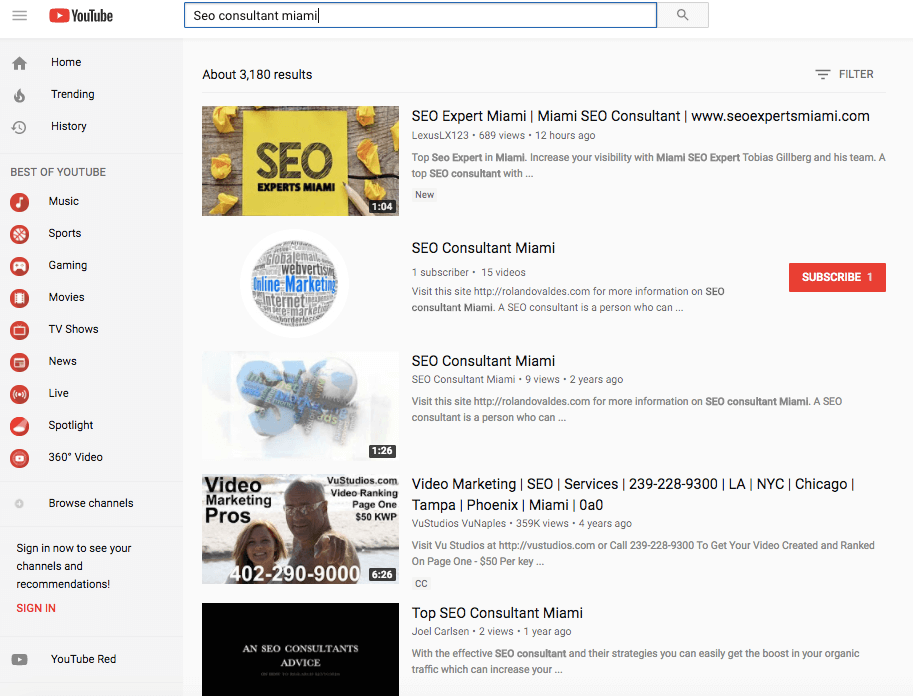 top seo for youtube